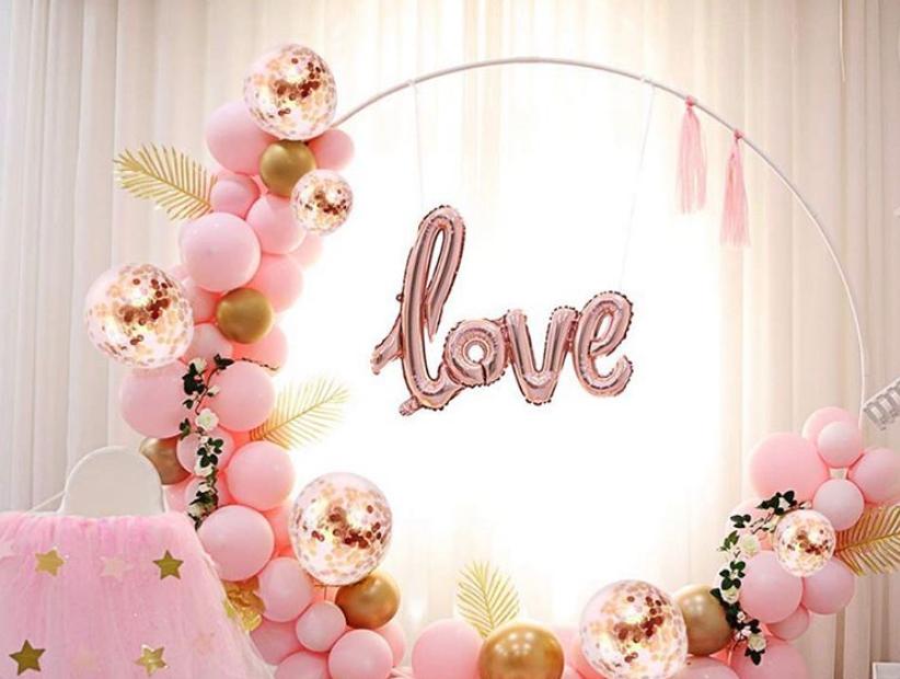 Arche ballon rose gold mariage
